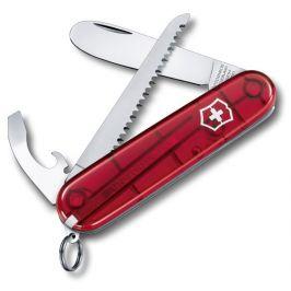 Nůž Můj první Victorinox s pilkou červený Barva: červená transparentní