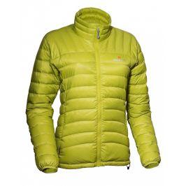 Dámská péřová bunda Warmpeace Swing Velikost: L / Barva: světle zelená