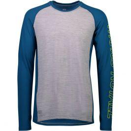 Pánské funkční triko Mons Royale Temple Tech LS Velikost: XL / Barva: šedá/modrá