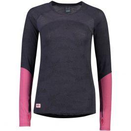 Dámské funkční triko Mons Royale Bella Tech LS Velikost: L / Barva: šedá/růžová