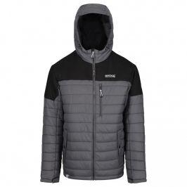 Pánská zimní bunda Regatta Orton Velikost: XXL / Barva: černá/šedá