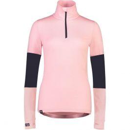Dámské triko Mons Royale Cornice Half Zip Velikost: M / Barva: světle růžová