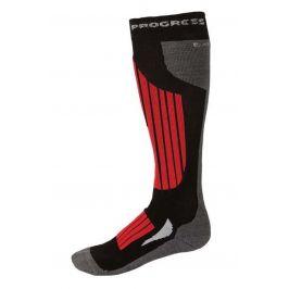 Podkolenky Progress P SKB 8UB SKI BAMBOO Velikost ponožek: 35-38 / Barva: černá/červená