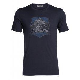 Pánské triko Icebreaker Mens Tech Lite SS Crewe Everest Crest Velikost: XXL / Barva: tmavě modrá