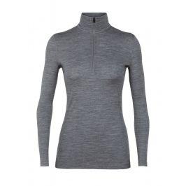 Dámské triko Icebreaker Women's 200 Oasis LS Half Zip Velikost: L / Barva: šedá