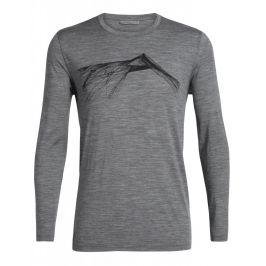 Pánské triko Icebreaker Mens Tech Lite LS Crewe Shear Velikost: XL / Barva: šedá