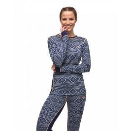Dámské funkční triko Kari Traa Floke LS Velikost: L / Barva: modrá