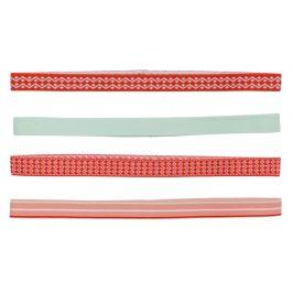 Dámské čelenky Kari Traa Sigrun Headband 4pk Obvod hlavy: univerzální cm / Barva: červená