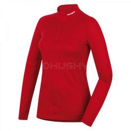 Dámské funkční triko Husky Merino zip Velikost: M / Barva: červená
