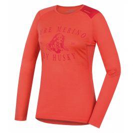 Dámské funkční triko Husky Merino 100 dl. rukáv Puppy Velikost: M / Barva: růžová