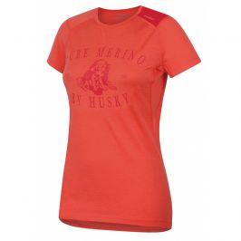 Dámské funkční triko Husky Merino 100 kr. rukáv Puppy Velikost: M / Barva: růžová