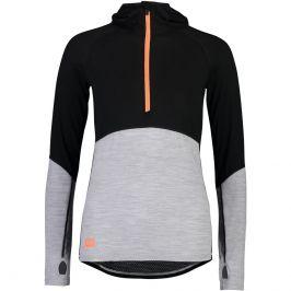 Dámské funkční triko Mons Royale Bella Tech Hood Velikost: L / Barva: černá/šedá