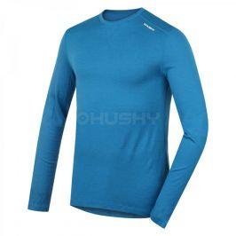 Pánské funkční triko Husky Merino dl.rukáv modrá Velikost: XL / Barva: modrá