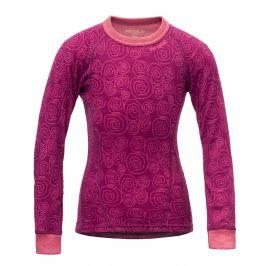 Dětské funkční triko Devold Active Kid Shirt Dětská velikost: 92 (2) / Barva: růžová