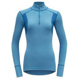 Dámské triko Devold Hiking Half Zip Neck Velikost: L / Barva: modrá