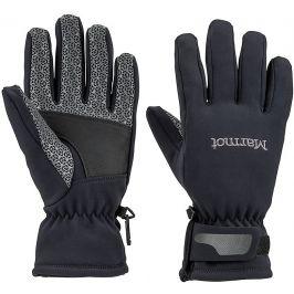 Dámské rukavice Marmot Glide Softshell Glove Velikost rukavic: S / Barva: černá