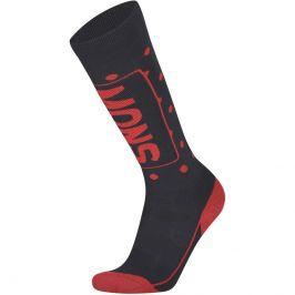 Dámské podkolenky Mons Royale Mons Tech Cushion Sock Velikost ponožek: 42-44 / Barva: černá/červená