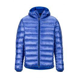 Pánská bunda Marmot Hype Down Hoody Velikost: S / Barva: modrá