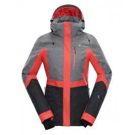 Dámská zimní bunda Alpine Pro Sardara 2 Velikost: L / Barva: šedá/růžová