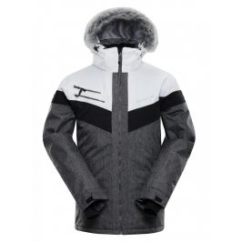 Pánská bunda Alpine Pro Dor 2 Velikost: XL / Barva: bílá/šedá