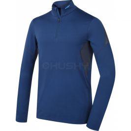 Pánské funkční triko Husky Active Winter zip dl.rukáv Velikost: XL / Barva: modrá