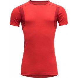 Pánské triko Devold Hiking Man T-shirt Velikost: XL / Barva: červená