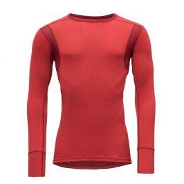 Pánské triko Devold Hiking Man Shirt Chilli Velikost: XL / Barva: červená
