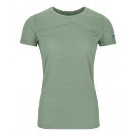 Dámské funkční triko Ortovox 120 Tec Mountain T-Shirt W Velikost: L / Barva: zelená