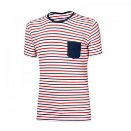 Pánské triko Progress OS Pandur 24GA Velikost: L / Barva: modrá/bíla/červená