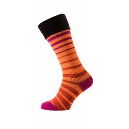 Nepromokavé ponožky SealSkinz Thin Mid Cuff Velikost ponožek: 43-49 (L-XL) / Barva: oranžová