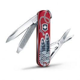 Kapesní nůž Victorinox Classic LE Sardine Can Barva: červená/šedá