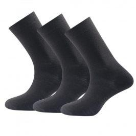 Ponožky Devold Daily light sock 3PK Velikost: 36-40 / Barva: černá