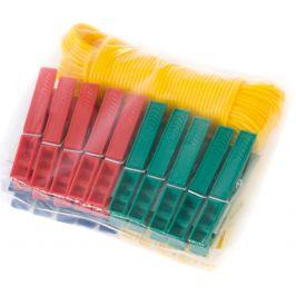 Prádelní šňůra s kolíčky Bo-Camp Dry Laundry Set 20