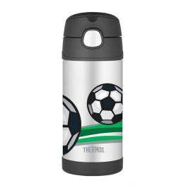 Dětská termoska Thermos Funtainer - fotbal Barva: černá
