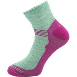 Ponožky Zulu Merino Women lite Velikost ponožek: 35-38 / Barva: růžová
