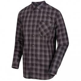 Pánská košile Regatta Lazare Velikost: XXL / Barva: šedá/černá