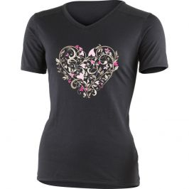 Dámské triko Lasting Elba Velikost: S / Barva: černá / růžová