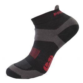 Ponožky Progress RNS 8JB Running Sox Velikost ponožek: 35-38 (3-5) / Barva: černá/šedá