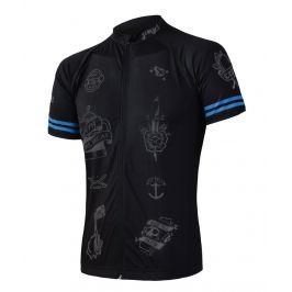 Pánský cyklistický dres Sensor Cyklo Tattoo Velikost: M / Barva: černá