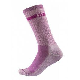 Dámské ponožky Devold Outdoor Medium Woman Sock Velikost ponožek: 35-37 / Barva: růžová