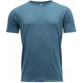 Pánské triko Devold Eika Man Tee Velikost: L / Barva: modrá
