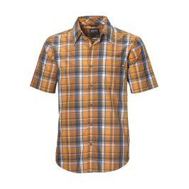 Pánská košile Marmot Lykken SS Velikost: M / Barva: oranžová/šedá