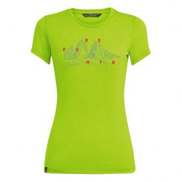 Dámské triko Salewa Graphic Dri-Rel W S/S Tee Velikost: XS / Barva: zelená