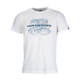 Pánské triko Northfinder Dewin Velikost: M / Barva: bílá