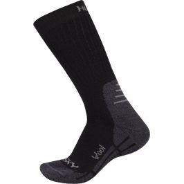 Ponožky Husky All Wool (2018) Velikost: 45 - 48 (XL) / Barva: černá