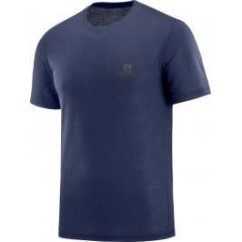 Pánské triko Salomon Explore SS Tee M Velikost: XXL / Barva: tmavě modrá
