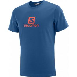 Pánské triko Salomon Coton Logo Ss Tee M Velikost: M / Barva: modrá