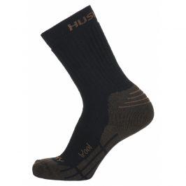 Ponožky Husky All Wool Velikost ponožek: 45-48 / Barva: hnědá