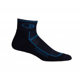 Pánské ponožky Icebreaker Multisport Light Mini Velikost ponožek: 44,5 - 46,5 / Barva: černá/modrá