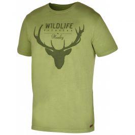 Pánské triko Husky Deer M Velikost: M / Barva: zelená